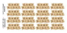 Game Night Stickers Erin Condren Stickers by PlanItOutLoud on Etsy