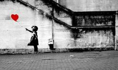 #WithSyria - Banksy girl with baloon