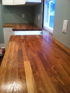 A Review Ikea Butcher Block Countertops And Waterlox Finish Diy Butcher Block Countertopswooden Kitchen
