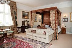 Four poster-bed luxury at Goldsborough Hall - the Oglesby Suite