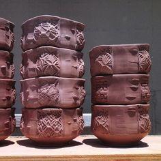 Stoneware Bowls in progress. Ceramic Bowls, Stoneware, Plates And Bowls, Empty, Pottery, Ceramics, Mugs, Tableware, Ideas