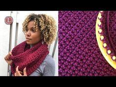 Loom Knitting Cowl Scarf - The Purl In Oversized Cowl ; loom knitting cowl scarf - der purl in oversized cowl ; loom knitting cowl scarf - le purl dans un surdimensionné ; bufanda de tejer con capucha y capucha - the purl in oversized cowl Round Loom Knitting, Loom Scarf, Loom Knitting Stitches, Loom Knit Hat, Loom Knitting Projects, Knit Cowl, Easy Knitting, Diy Scarf, Sock Knitting