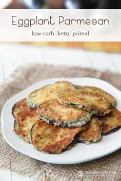 Keto Eggplant Parmesan...suggestion to soak in milk and rosemary overnight to get rid of the bitterness