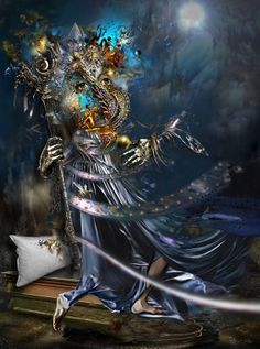 Werner Hornung ● Paris, France ● 'Guardian of My Dreams' ● Art Made with Digital Tools ● FS