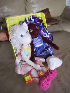 Pink Kat & Miss Violet poppets