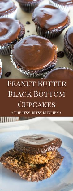 Super chocolate-y and filled with peanut butter and cheesecake, these peanut butter black bottom cupcakes are sure to be a hit with any dessert lover!
