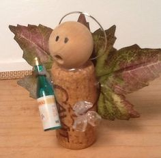 Wine Cork Angel by CorkCraftsbyKat on Etsy