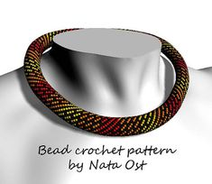 Bead Crochet rope pattern necklace or bracelet Speed by NataOst