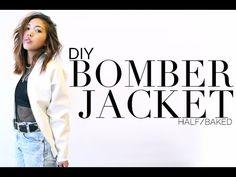DIY Leather Bomber Jacket   Half Baked - YouTube