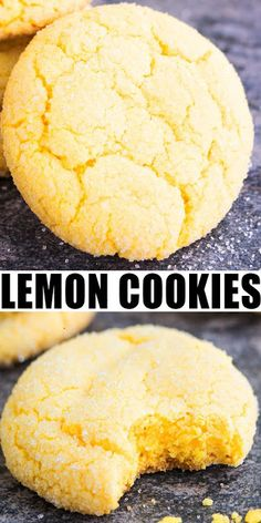 DELICIOUS EASY LEMON COOKIES #food #easyrecipes #easycookies #cookiesrecipes