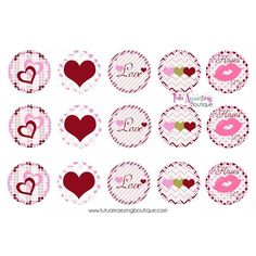 More FREE Valentines Day bottle cap images can be found on our blog https://tutuamaezingboutique.wordpress.com