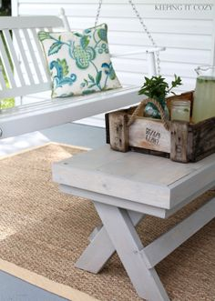 Front porch in white
