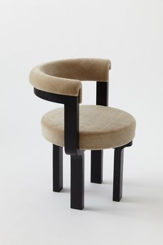 Kana Chair is a minimalist chair created by Brooklyn-based designer Vonnegut Kraft Bench Furniture, Furniture Makeover, Furniture Design, Chair Makeover, Rustic Stools, Dinning Chairs, Dining Room, Chair Upholstery, Modern Chairs