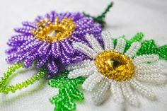 Цветы из бисера : Ромашка