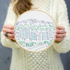 Kelly (@kellycolleran) just finished her first embroidery project, @studiomme's Denver Skyline Kit. This Fancy Tiger exclusive kit is great for beginners like Kelly, and the perfect gift for Colorado lovers all across the country. Find out all about Kelly's craft journey on the blog today. Link in profile.⠀ ⠀ #studiomme #embroidery #handstitched #fancytigercrafts #denverskyline