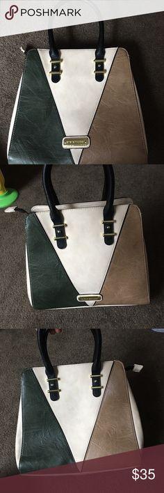 Steve Madden Bag Dark green, cream, and tan bag Bags Totes