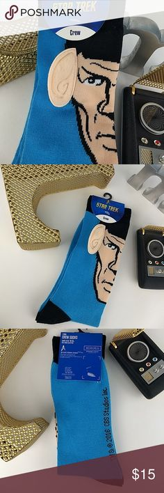 VULCAN GREAT 🔷SPOCK crew socks NWT 🔷NWT Star Trek crew socks, Spock edition 🔷2016 CBS Studios by Bioworldmerch 🔷68 percent acrylic 30 percent polyester 2 percent spandex 🔷3-D ears for a complete Spock face and Starfleet emblem on each 🔷Does not grant rank in Starfleet BUT is wearable by humans AND Vulcans 🔷Suitable for chilling or certain formal events depending on you 🔷I'm a FAST SHIPPER 5 ⭐💖 CBS Studios Underwear & Socks Dress Socks Star Trek Crew, Plus Fashion, Fashion Tips, Fashion Design, Fashion Trends, Dress Socks, Fashion Updates, Fashion Socks, Chilling