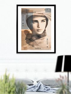 Elizabeth Taylor Collage face design glance por SoulArtCorner