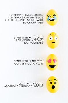 DIY Emoji Easter Eggs