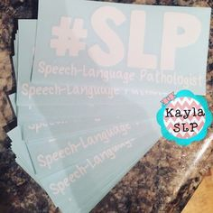 Decorate your door, window, planner or laptop with a vinyl sticker showing who you are and what your job title is! This sticker will adhere to almost ANY surface.Educate your students, teachers and parents!So many people know us as speech teachers, speech therapists or SLPs.