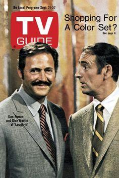 """TV Guide: September 21, 1968 - Dan Rowan and Dick Martin of """"Laugh-In"""""""