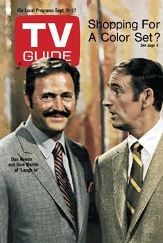 "TV Guide: September 21, 1968 - Dan Rowan and Dick Martin of ""Laugh-In"""