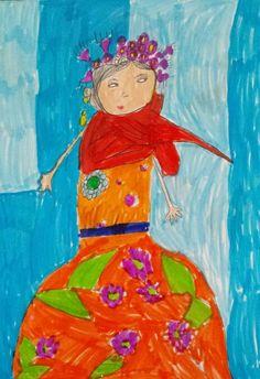 Djena 6ans revisite frida les ateliers Kahlo avec Demoizelle Coco