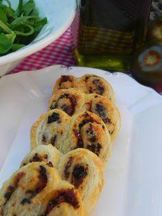 Palmeritas mediterráneas (con tomate seco, aceitunas negras y parmesano) | CocotteMinute