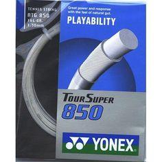 Yonex SUPER Tour 850 Tennis String Set by Yonex. $8.95. 16 gauge, White, 39'
