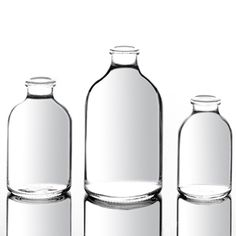Clear glass vials