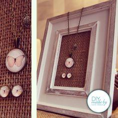 #Diy #Cabochon #Rahmen #Kette #Ohrringe #earrings #necklace #frame Diy made by Carolin Weiland