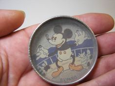 Rare French Tin Dexterity Game Disney 1930s Mickey Mouse Geduldspiele
