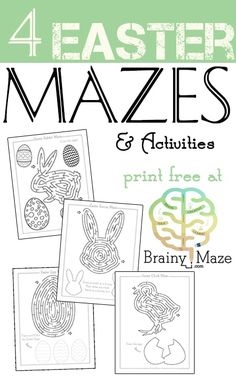 Looking to add a little fun to your little one's Easter basket? Print up these FREE Easter Mazes from http://brainymaze.com/?utm_campaign=coschedule&utm_source=pinterest&utm_medium=Valerie&utm_content=Easter%20Mazes%20for%20Kids Easter Mazes for Kids https://thecraftyclassroom.com/2016/02/08/easter-mazes-for-kids/?utm_campaign=coschedule&utm_source=pinterest&utm_medium=Valerie&utm_content=Easter%20Mazes%20for%20Kids