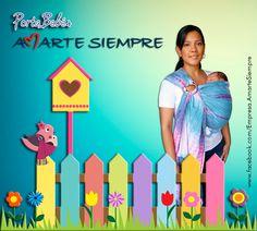 """Portabebés Amarte Siempre """"La manera más Cómoda, Segura y Natural de llevar a tu bebé"""""""