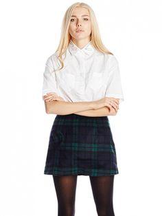 Rachel Antonoff Trupti white button-up top with collar