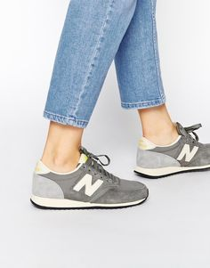 Buy New Balance 420 Grey Vintage Trainers at ASOS. Get the latest trends with ASOS now. Moda Sneakers, Sneakers Mode, Best Sneakers, Casual Sneakers, Sneakers Fashion, Grey Sneakers, Leather Sneakers, Shoes Sneakers, New Balance 420