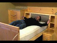 ▶ CHARLIE STEVENS HIDDEN BED SECRET PASSAGEWAY - YouTube