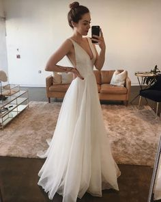 Wonderful Perfect Wedding Dress For The Bride Ideas. Ineffable Perfect Wedding Dress For The Bride Ideas. Long Wedding Dresses, Wedding Gowns, Wedding Arbors, Backless Wedding, Wedding Dress Shopping, Tulle Wedding, Wedding Venues, Perfect Wedding, Dream Wedding