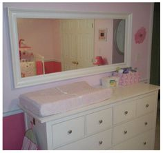 Mirror above dresser/ changing table??