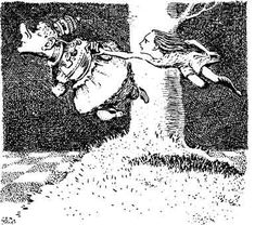Illustration from Alice's Adventures in Wonderland, 1945, Mervyn Peake