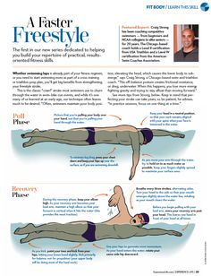 Swim and triathlon coach Craig Strong offers tips for strengthening your freestyle stroke in the first installment of our new series on building fitness skills.  #swimming #infographic #health #fitness #triathlon