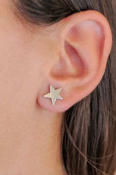 Silver star studs 925 sterling silver Gold star studs Handmade Sterling Silver, Sterling Silver Earrings, Mothers Friend, Silver Stars, Earring Backs, Shopping Mall, Etsy Handmade, Small Businesses, Vintage Items