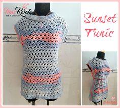Crochet Sunset Tunic By Maz Kwok - Free Crochet Pattern - (beacrafter)