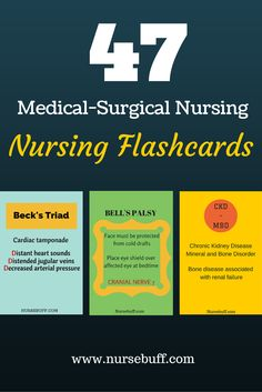 47 Medical-Surgical Nursing Flashcards: http://www.nursebuff.com/medical-surgical-nursing-mnemonics/