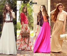 Long skirts - summer 2012