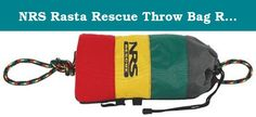 """NRS Rasta Rescue Throw Bag Rasta IN75';3/8 IN IN IN. FEATURES of the NRS Rasta Rescue Throw Bag Rugged Cordura bag has bands of red, yellow and green that are highly visible in varying water color conditions The 3/8"""" polypropylene rope also has red, yellow and green woven into it for visibility The rope has a 2,000 pound tensile strength and it floats for good visibility on the water A barrel-lock drawstring is incorporated in a flared nylon top for smoother throws, plus easy reloading…"""