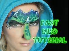 Resultado de imagen de Dinosaur Face Paint Designs