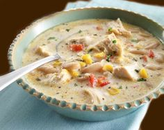 Chicken Chili with Cannellini Beans and White Cheddar Cheese - http://thegardeningcook.com/white-chicken-chili/