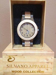 Silvano Apparel Unisex Tan/Mahogany Wooden Watch ($80)