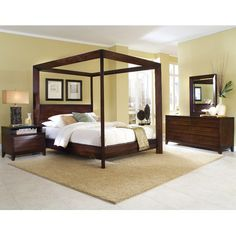 Home Image Island Chamfer High Poster Canopy Bed